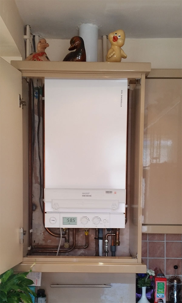 Generous combi boiler installation photos electrical for Kitchen boiler cupboard